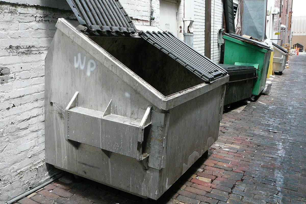 Roll Off Dumpsters in Work Sites